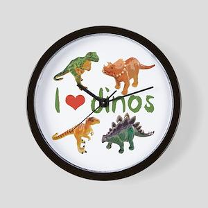 I Love Dinos Wall Clock