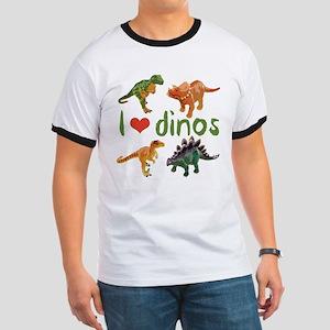 I Love Dinos Ringer T