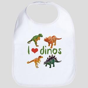 I Love Dinos Cotton Baby Bib