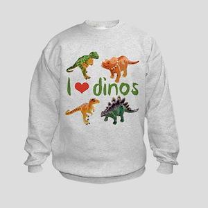 I Love Dinos Kids Sweatshirt