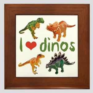 I Love Dinos Framed Tile
