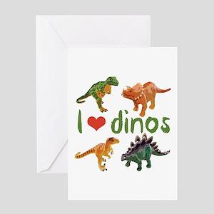 I Love Dinos Greeting Card