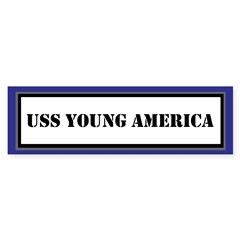 USS Young America Sticker (Bumper)