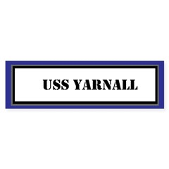 USS Yarnall Sticker (Bumper)