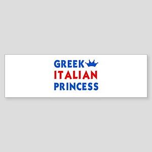 Greek Italian Princess Bumper Sticker