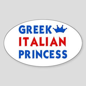 Greek Italian Princess Oval Sticker
