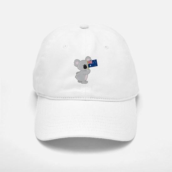 Koala Australian Flag Baseball Baseball Cap