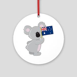 Koala Australian Flag Ornament (Round)