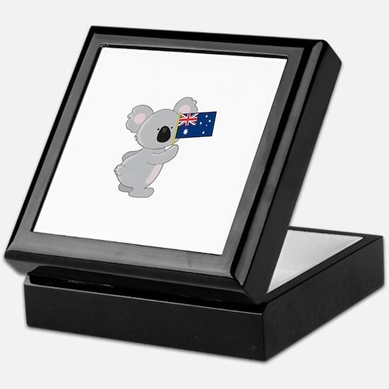 Koala Australian Flag Keepsake Box