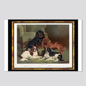 Antique King Charles Spaniels Postcards (Package o