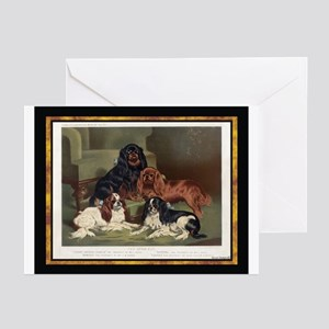 Antique King Charles Spaniels Greeting Cards (Pack