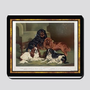 Antique King Charles Spaniels Mousepad
