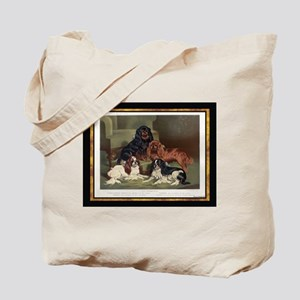 Antique King Charles Spaniels Tote Bag