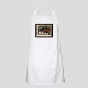 Antique King Charles Spaniels BBQ Apron
