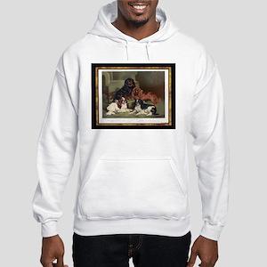 Antique King Charles Spaniels Hooded Sweatshirt