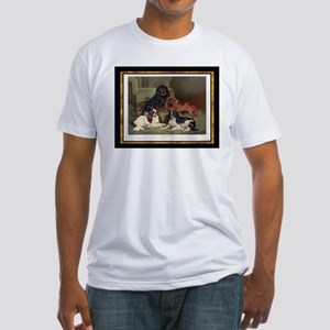 Antique King Charles Spaniels Fitted T-Shirt