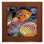 Ocean Fish Framed Tile