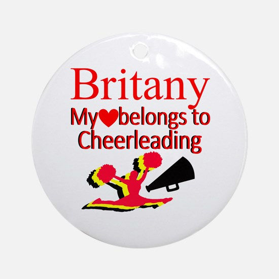 CHEER GIRL Round Ornament