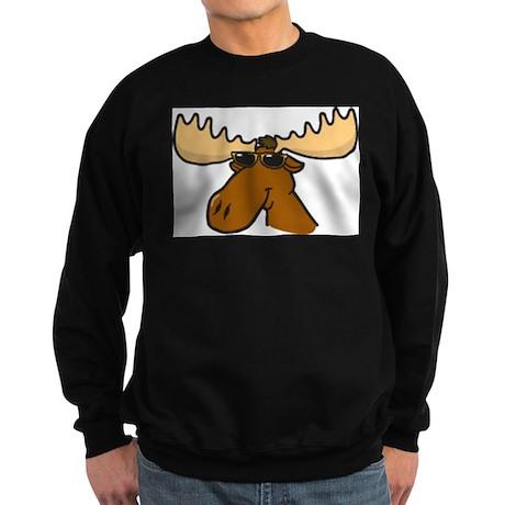 Moose with Shades Sweatshirt (dark)