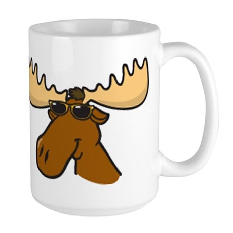 Moose with Shades Large Mug