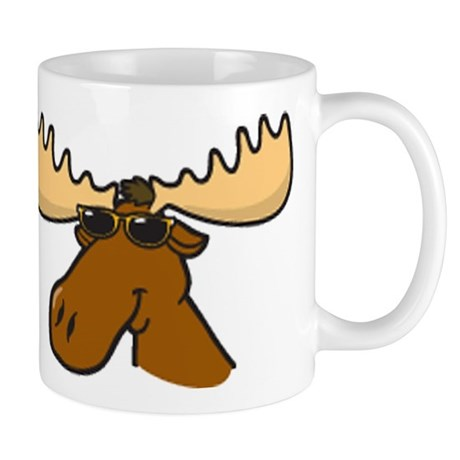 Moose with Shades Mug