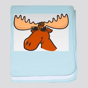 Moose with Shades baby blanket