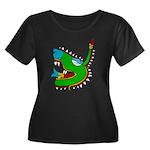 Cipactli Women's Plus Size Scoop Neck Dark T-Shirt