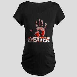 Dexter ShowTime Bloody Hand Maternity Dark T-Shirt