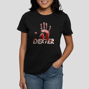 Dexter ShowTime Bloody Hand Women's Dark T-Shirt