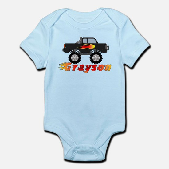 Grayson Monster Truck Infant Bodysuit