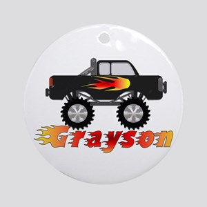 Grayson Monster Truck Ornament (Round)