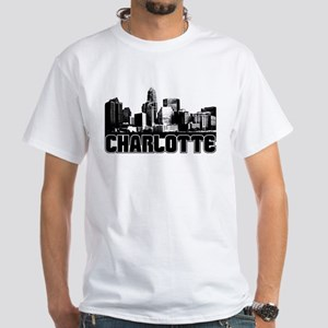 Charlotte Skyline White T-Shirt