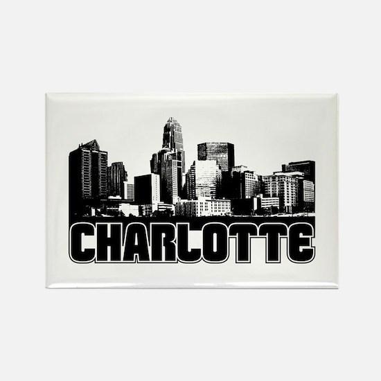 Charlotte Skyline Rectangle Magnet
