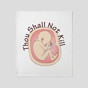 Thou Shall Not Kill Throw Blanket