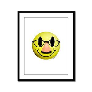 Groucho Smiley Framed Panel Print