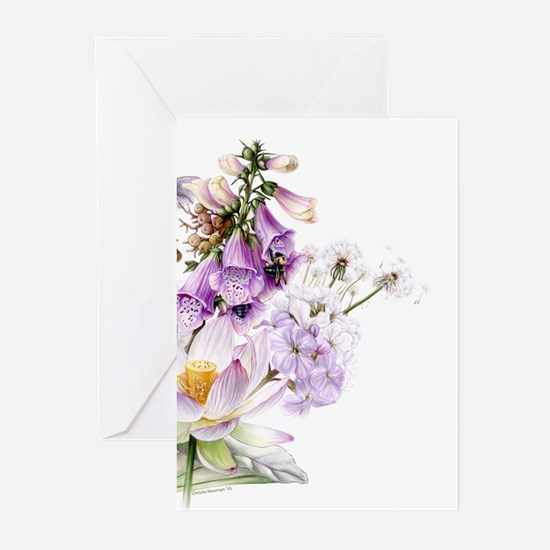 Flowering Plants Greeting Cards (Pk of 10)
