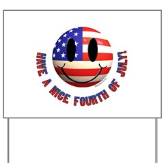 July 4th Smiley Yard Sign