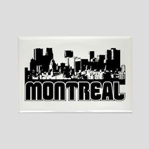 Montreal Skyline Rectangle Magnet