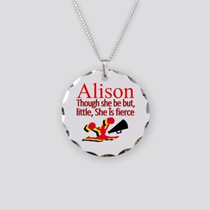 CHEER GIRL Necklace Circle Charm