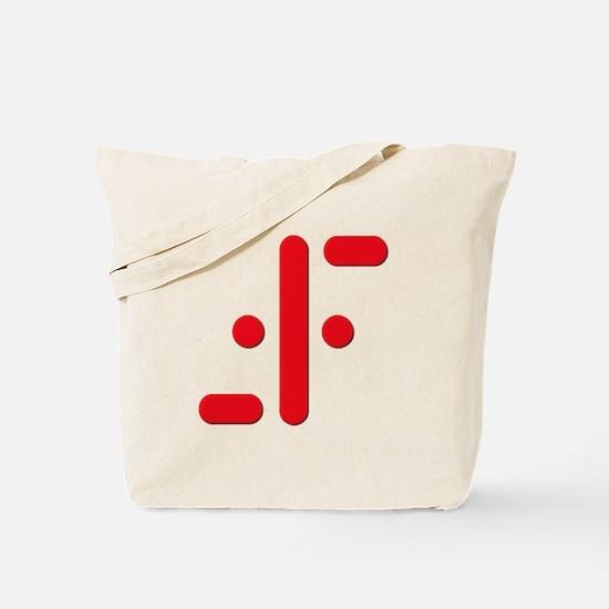 V Symbol Visitors TV Red Tote Bag