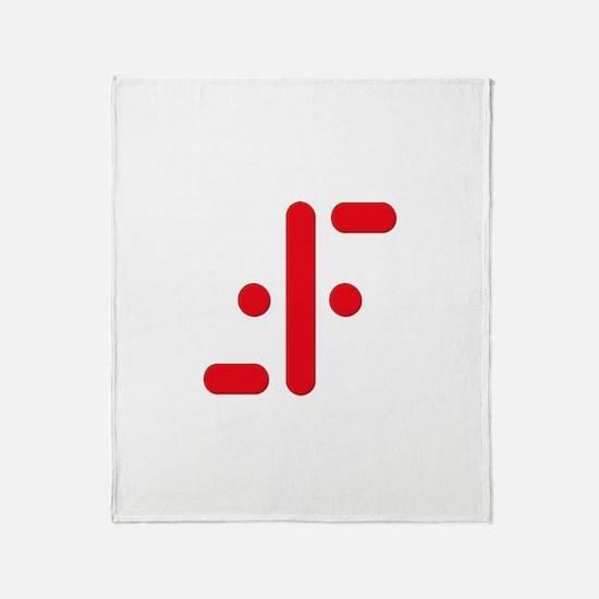 V Symbol Visitors TV Red Throw Blanket