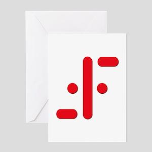 V Symbol Visitors TV Red Greeting Card