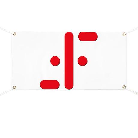 V Symbol Visitors TV Red Banner