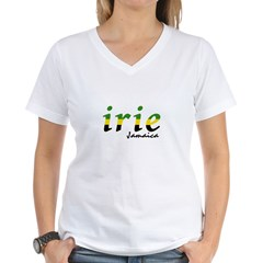irie Jamaica Women's V-Neck T-Shirt