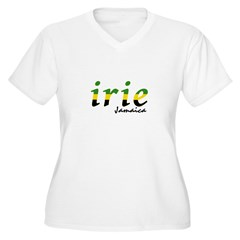 irie Jamaica Women's Plus Size V-Neck T-Shirt