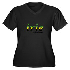 irie Jamaica Women's Plus Size V-Neck Dark T-Shirt