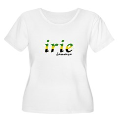 irie Jamaica Women's Plus Size Scoop Neck T-Shirt