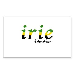 irie Jamaica Sticker (Rectangle)