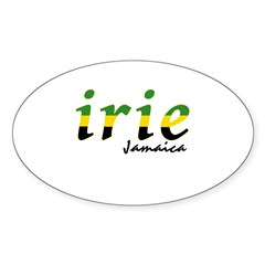 irie Jamaica Sticker (Oval)