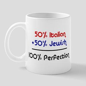 Half Italian, Half Jewish Mug